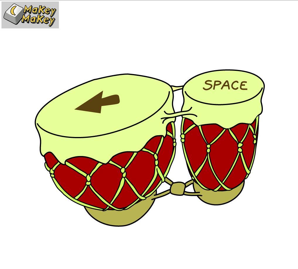 Bongo-Programm starten für Bongo spielen mit MaKey MaKey