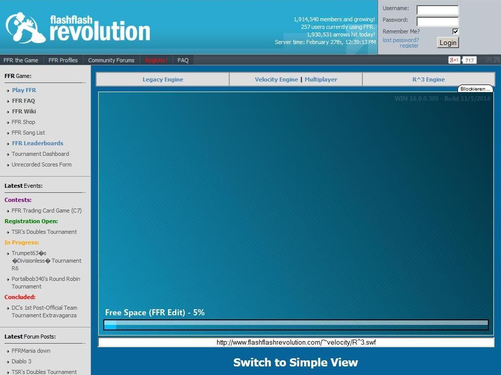 Flash Flash Revolution-Ladebildschirm für die MaKey MaKey Tanzmatte