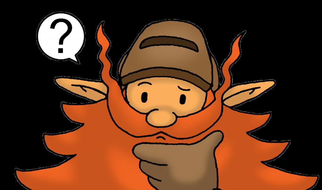 Unser Maskottchen hat eine Frage