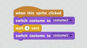 Das Skript, um ein Kostüm zu ändern