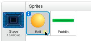 Der Ball wird ausgewählt