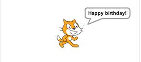 Die Katze spricht jetzt den eingegebenen Satz