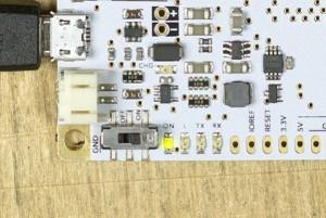 Das Micro USB Kabel ist angeschlossen