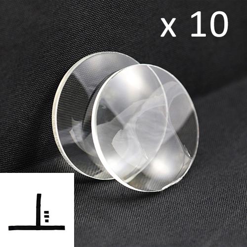 VR Linsen Set (10 Paare) mit 10 Klett-Kopfbändern